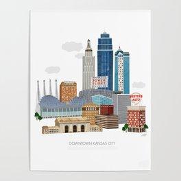 Kansas City Skyline Poster