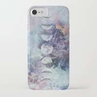 moon phase iPhone & iPod Cases featuring Just A Phase. by BLACK SAGE DESIGNS