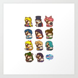 Pretty Soldier Sailor Puglie Art Print