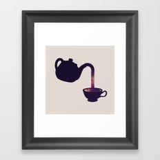 Cuppa Galaxy Framed Art Print