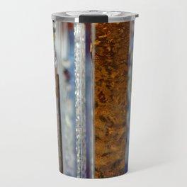 Abstract Glass Travel Mug