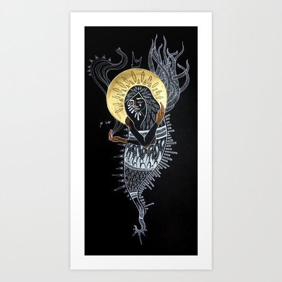With a Golden Glow Art Print
