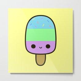 Cute yummy ice lolly Metal Print