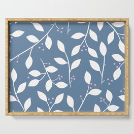 White Branches Serving Tray