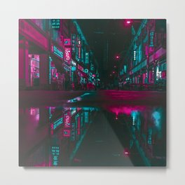 Vaporwave Reflections Metal Print
