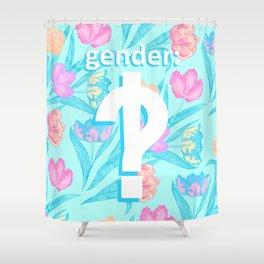 Gender: interrobang Shower Curtain