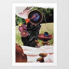 Mushroom Sauteing in the Sunshine Art Print