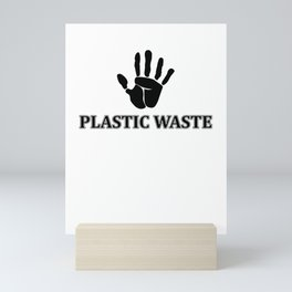Plastic Waste Mini Art Print