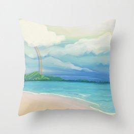 Hawaii Rainbow Throw Pillow