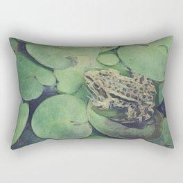 all green Rectangular Pillow
