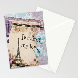 Vintage Paris Je t'aime  Stationery Cards
