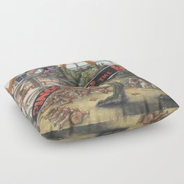 When Dinosaurs Ruled the Earth - Jurassic Park T-Rex Floor Pillow