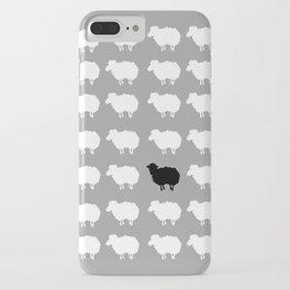Black sheep iPhone Case