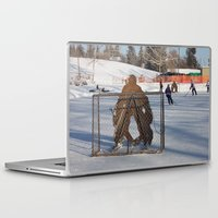 outdoor Laptop & iPad Skins featuring Outdoor hockey rink by RMK Photography