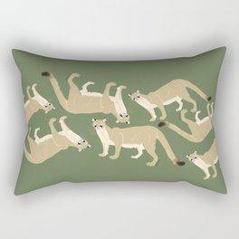 Carnivores of World: Cougar Pum(a) (c) 2017 Rectangular Pillow