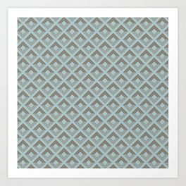 Two-toned square pattern Art Print