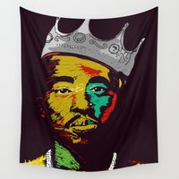tupac Wall Tapestries featuring Tupac's Back by Dazed N Amused