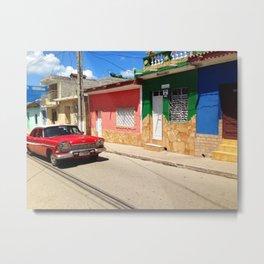 Cars in Cuba Metal Print