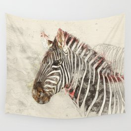 Zebra - Painted sketch Wall Tapestry