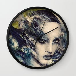 THE STORY OF A LACING WAVE Wall Clock