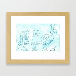 A turtle will inherit the earth Framed Art Print