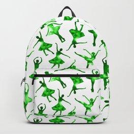 Watercolor Ballerinas (Green) Backpack