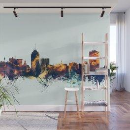 Fresno California Skyline Wall Mural