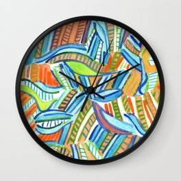 Bent and Straight Ladders Pattern Wall Clock