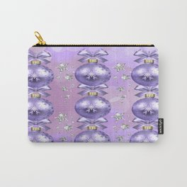 The Joy of Christmas - Purple Carry-All Pouch
