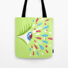 Psychedelic eye Tote Bag