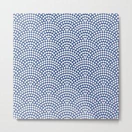Point Wave Marine blue Metal Print