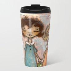 A Childhood Shared - Sister Art Metal Travel Mug