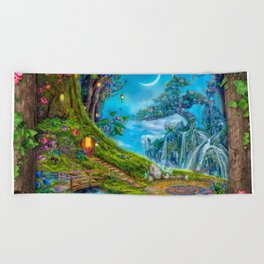 Day Moon Haven Beach Towel