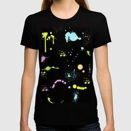Neon paint splatter T-shirt