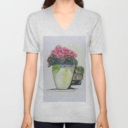 Kimberly's Castellabate Flower Pot Unisex V-Neck