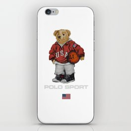 Vintage Polo Bear iPhone Skin
