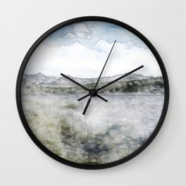 Watercolor Landscape 1 Wall Clock