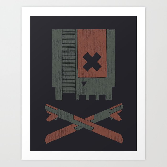 The Nes Skull Art Print