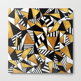 Geometric Gold Metal Print