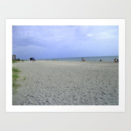 Vacancy on the Beach Art Print