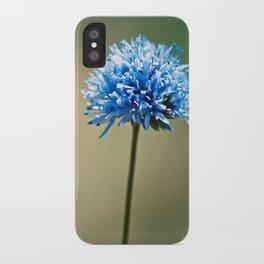 Blue Cotton iPhone Case