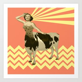 The real girly cow girl Art Print