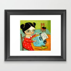 The writer of stories Framed Art Print