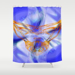 angel of liberty Shower Curtain