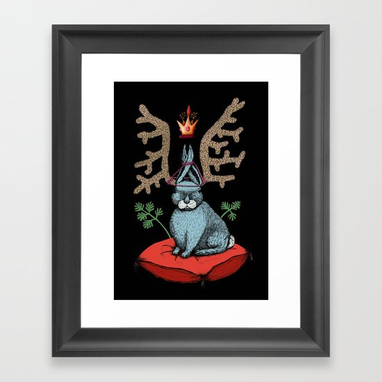 King of Fools 2 (Blue Rabbit) Framed Art Print