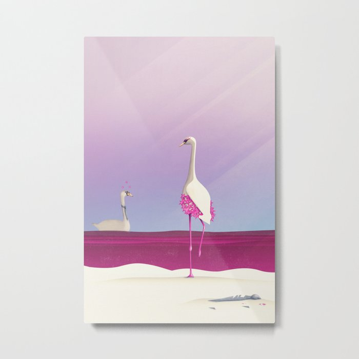 Flamingo Fatale Metal Print