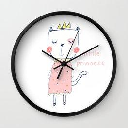 CAT CARTOON PRINCESS Wall Clock