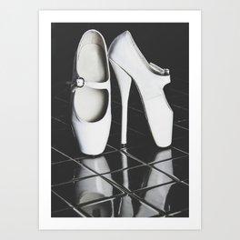 Ballet boots Art Print