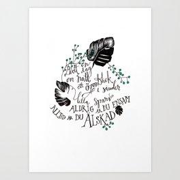 Lilla sparv Art Print