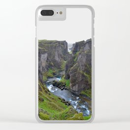 Fjaorargljufur Canyon Clear iPhone Case
